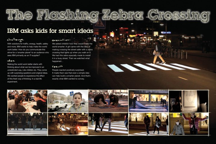 IBM flashing zebra crossing
