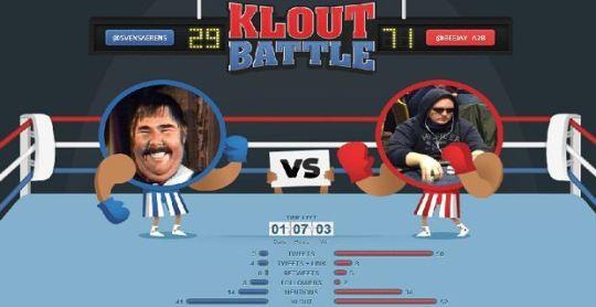 Klout battle