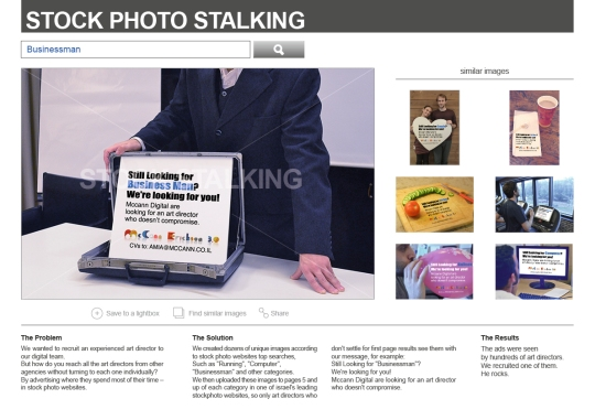 McCann Erickson stock photo stalking