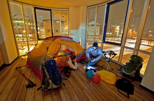 Globetrotter acampada