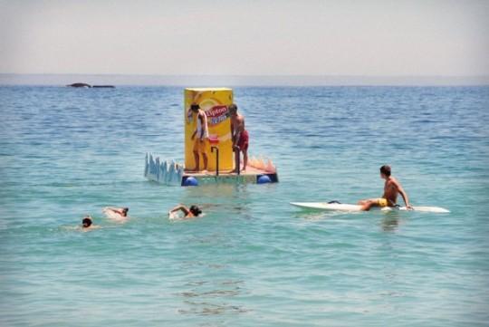 Lipton floating vending machine