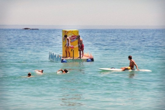 Lipton floating vending machine