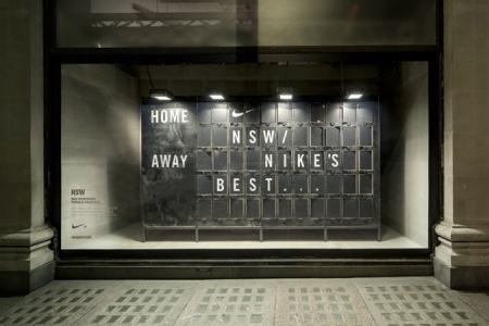 Nike´s interactive display windows by Staatt