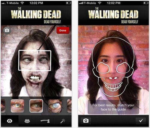App The Walking Dead Publicidad