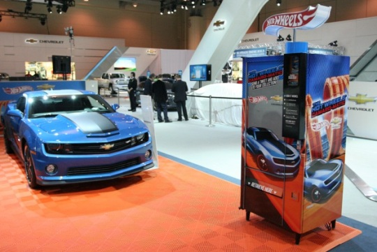 Hot Wheels tweet vending machine
