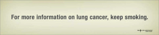 Lung association ad