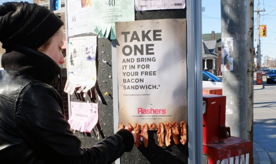 Rashers bacon take one poster
