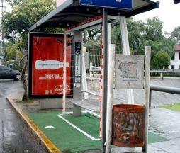 Coca Cola bus stop