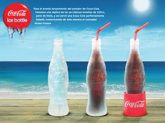 Botella de hielo Coca Cola