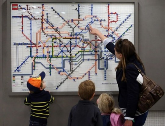 Lego subway map