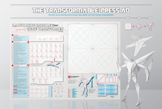 Transformers origami