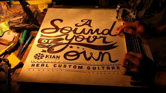 El póster guitarra
