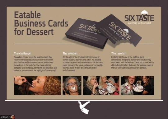 Food bussiness card