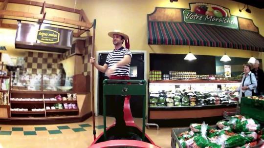 Gondola grocery cart