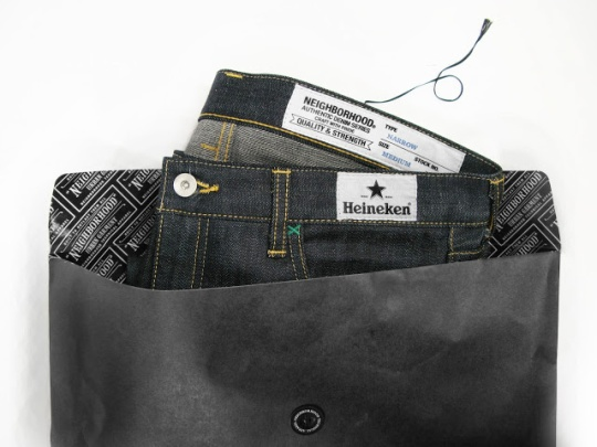 Heineken denim packaging
