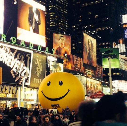 Bola antiestrés Times Square
