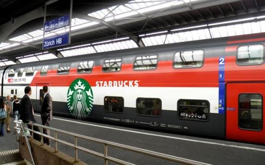 Coffe in a train