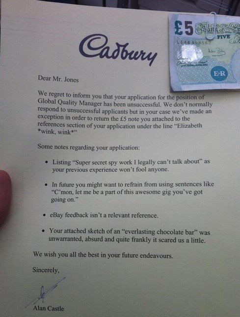 CV Cadbury