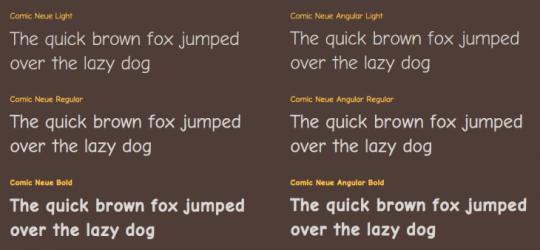 Tipografías Comic