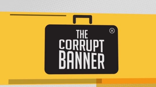 Banner corrupto