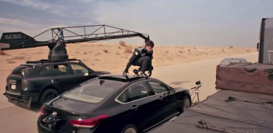 Hyundai stunt