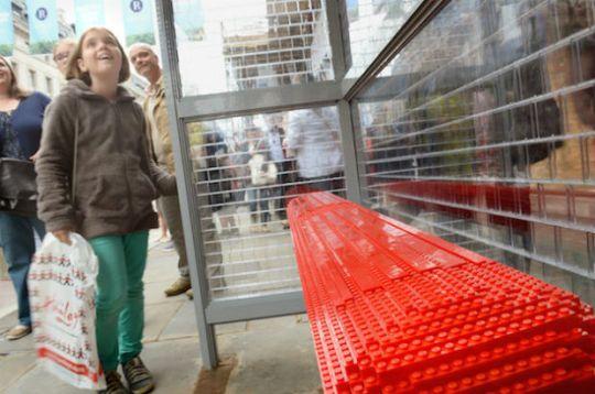 Lego bus stop