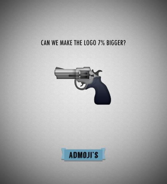 Admoji pistola