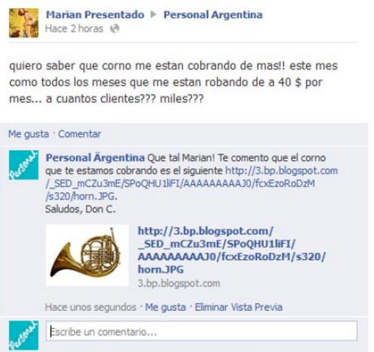 Corno Personal Argentina