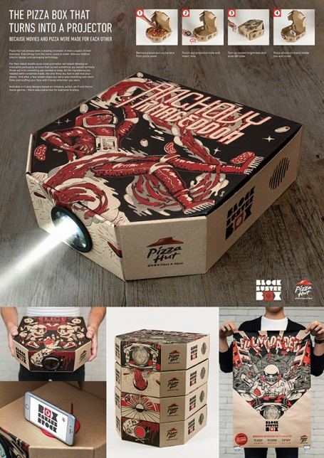 Pizza hut blockbuster box